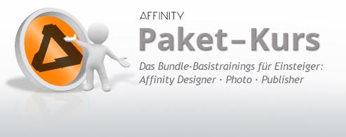AFFINITY – PAKET Grafik-Schulung  – für Einsteiger und Marketing-Mitarbeiter