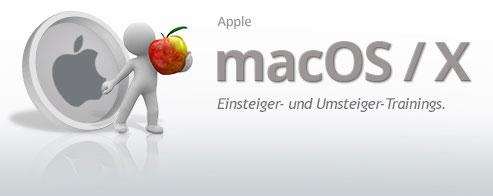 Apple Mac OS-X Arbeiten mit Apps
